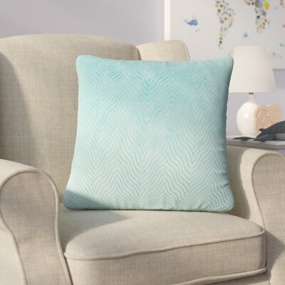 Bartle Solid Throw Pillow Color: Turquoise