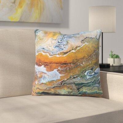 Geologic Veins by Carol Schiff Throw Pillow Size: 18 H x 18 W x 3 D