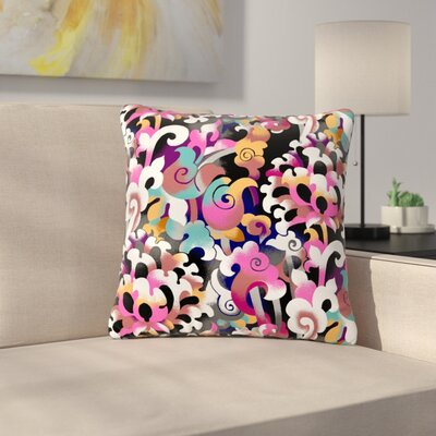 Victoria Krupp Fantasy Flowers Abstract Outdoor Throw Pillow Size: 18 H x 18 W x 5 D