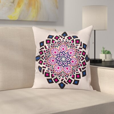Removable Flower Pillow Cover Size: 18 x 18