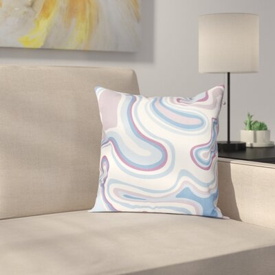 Buenrostro Agate Geometric Throw Pillow Size: 26 H x 26 W, Color: Lavender