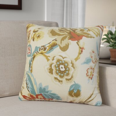 Pearse Floral Throw Pillow Color: Natural, Size: 18 x 18