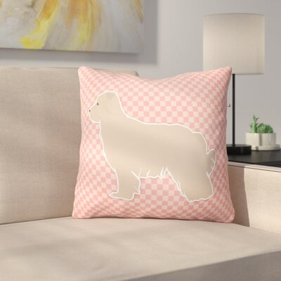 Pyrenean Shepherd Indoor/Outdoor Throw Pillow Size: 14 H x 14 W x 3 D, Color: Pink