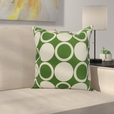 Memmott Small Mod-circles Throw Pillow Color: Green, Size: 16 x 16