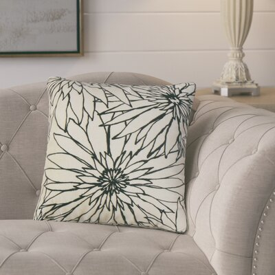 Loera Floral Cotton Throw Pillow