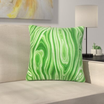 Strachan Geometric Cotton Throw Pillow Color: Green