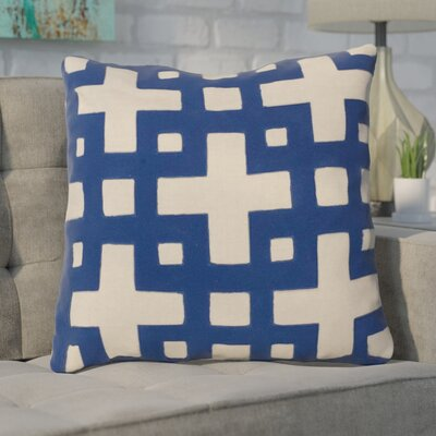 Cleanthes Cotton Throw Pillow Color: Blue / Neutral