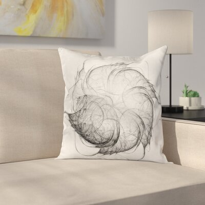 Abstract Art Modern Fractal Square Pillow Cover Size: 18 x 18