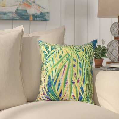 Pinkfringe Malibu Floral Print Outdoor Throw Pillow Size: 20 H x 20 W, Color: Teal