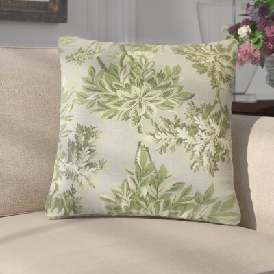 Lorriane Floral Cotton Throw Pillow Color: Gray