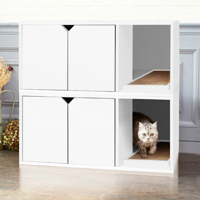 zBoard Storage Litter Box Enclosure Color: White