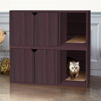 zBoard Storage Litter Box Enclosure Color: Espresso