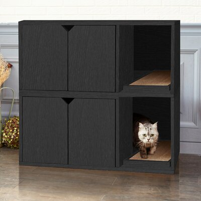 zBoard Storage Litter Box Enclosure Color: Black
