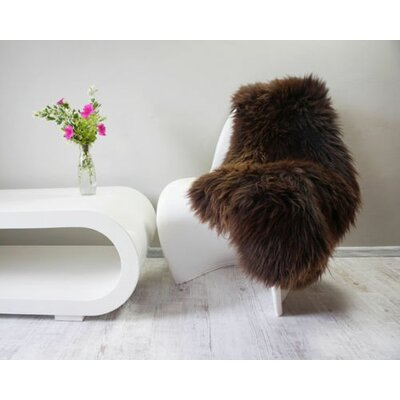 Proto Sheepskin Brown Indoor Area Rug