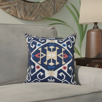 Meetinghouse Jodhpur Medallion Geometric Print Throw Pillow Size: 26 H x 26 W, Color: Navy Blue