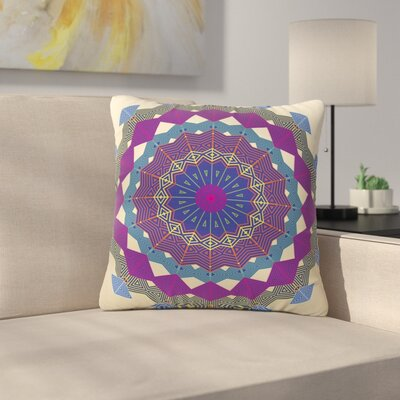 Angelo Cerantola Composition Outdoor Throw Pillow Size: 16 H x 16 W x 5 D, Color: Purple
