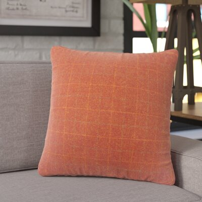 Crowley Plaid Throw Pillow Color: Red