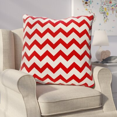 Milo Decorative Outdoor Pillow Color: Red, Size: 18 H x 18 W x 1 D