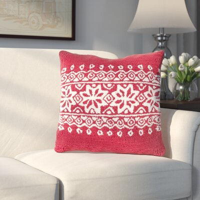 Bridgetown Throw Pillow Fill Type: Down, Color: Red