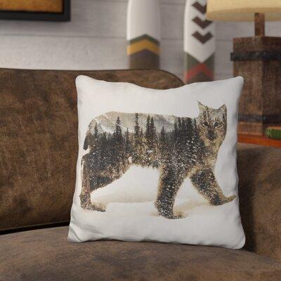 Okelly Lynx Throw Pillow