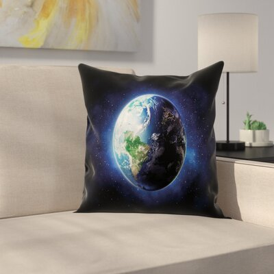 Calm Starry Outer Space Square Pillow Cover Size: 16 x 16