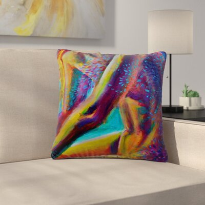 Cecibd El Color De La Lluvia Painting Outdoor Throw Pillow Size: 16 H x 16 W x 5 D
