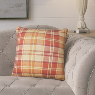 Tschaenn Plaid Throw Pillow Color: Red