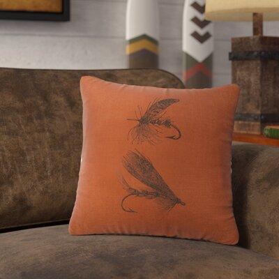 Nagao Flies Throw Pillow Color: Paprika
