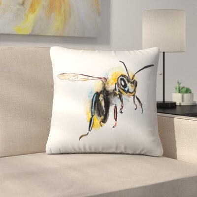 Bumblebee Throw Pillow Size: 18 x 18