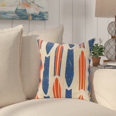 Golden Beach Dean Geometric Throw Pillow Size: 16 H x 16 W, Color: Orange