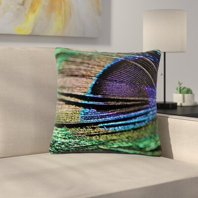 Angie Turner Peacock Feather Outdoor Throw Pillow Size: 16 H x 16 W x 5 D