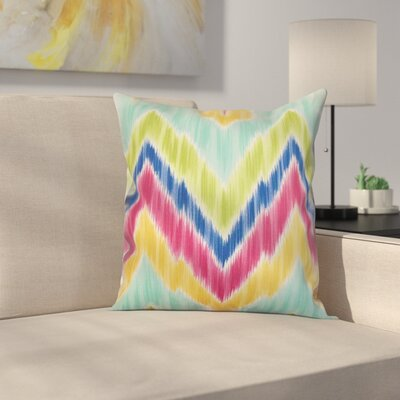 Earlwood Throw Pillow Color: Carribean, Size: 18x18