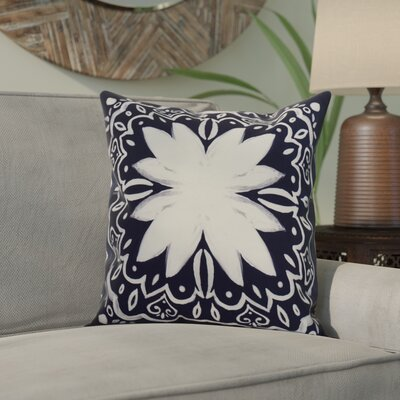 Casto Tile Throw Pillow Color: Navy Blue, Size: 20 x 20