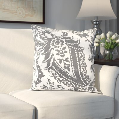 Sanford 100% Cotton Pillow Cover Color: Gray