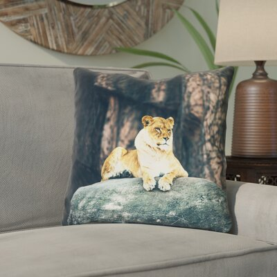 Thatcher Lioness 100% Cotton Throw Pillow Size: 20 x 20