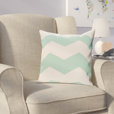 Milo Throw Pillow Size: 18 H x 18 W, Color: Aqua