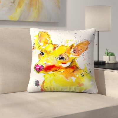 Chihuahua Mix Throw Pillow Size: 16 x 16