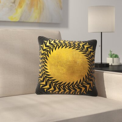 Matt Eklund Gilded Chaos Geometric Outdoor Throw Pillow Size: 16 H x 16 W x 5 D
