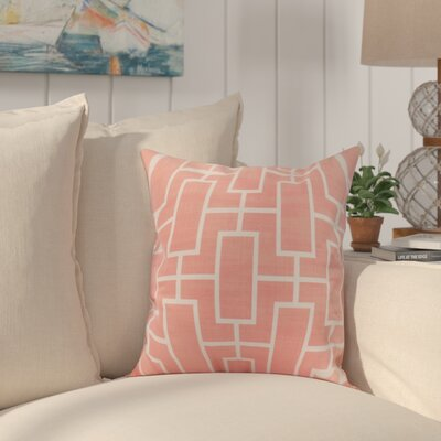 Cawley Lattice Geometric Print Indoor/Outdoor Throw Pillow Color: Coral, Size: 20 x 20