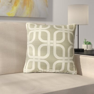Radstock Geometric Throw Pillow Color: Graystone