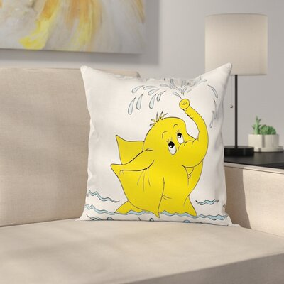 Animal Square Pillow Cover with Zipper Size: 16 x 16