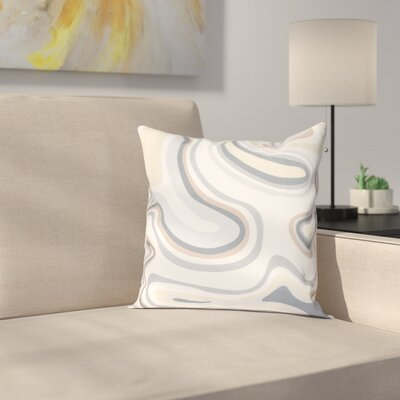 Buenrostro Agate Geometric Throw Pillow Size: 18 H x 18 W, Color: Taupe / Beige