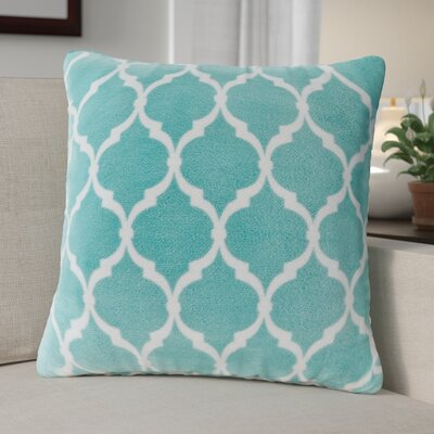 Flannagan Square Throw Pillow Color: Aqua