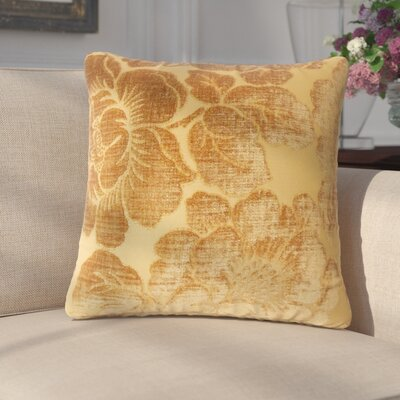 Fausta Floral Throw Pillow Color: Ginger