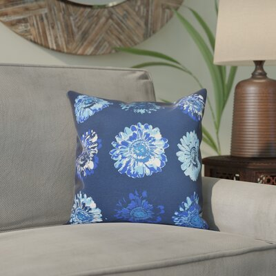 Willa Gypsy Floral 2 Print Throw Pillow Size: 26 H x 26 W, Color: Navy Blue