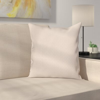 Geometric Chevron Zig Zag Cushion Pillow Cover Size: 24 x 24