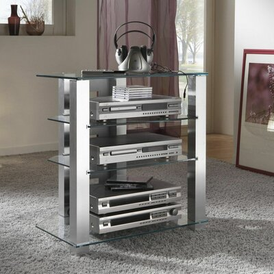 Glass and Aluminum Audio Rack
