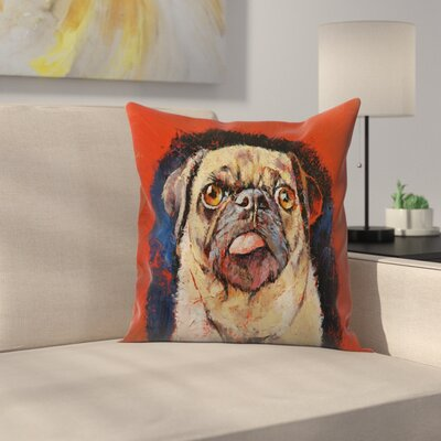 Michael Creese Pug Dog Portrait Throw Pillow Size: 18 x 18