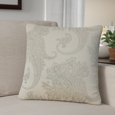 Gauron Paisley Throw Pillow Color: Linen