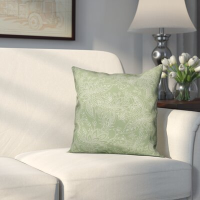 Kepner Paisley Throw Pillow Color: Green, Size: 18 x 18, Type: Pillow Cover